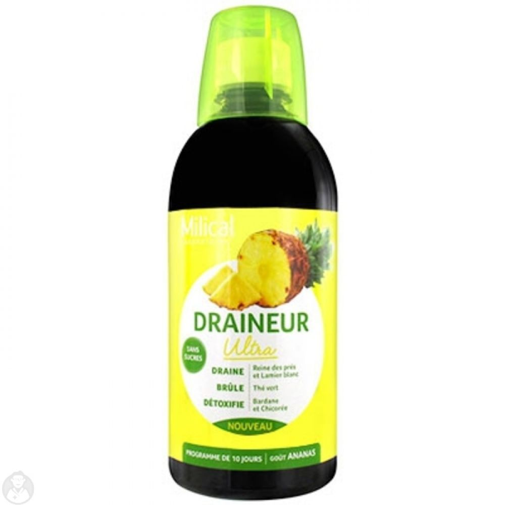 Milical - Draineur ultra gôut ananas - 500 ml