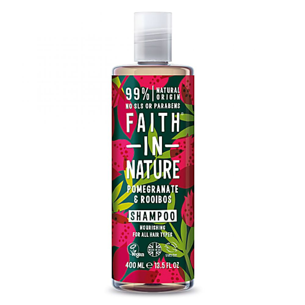 Faith in Nature - Shampooing grenade et rooibos - 400 ml