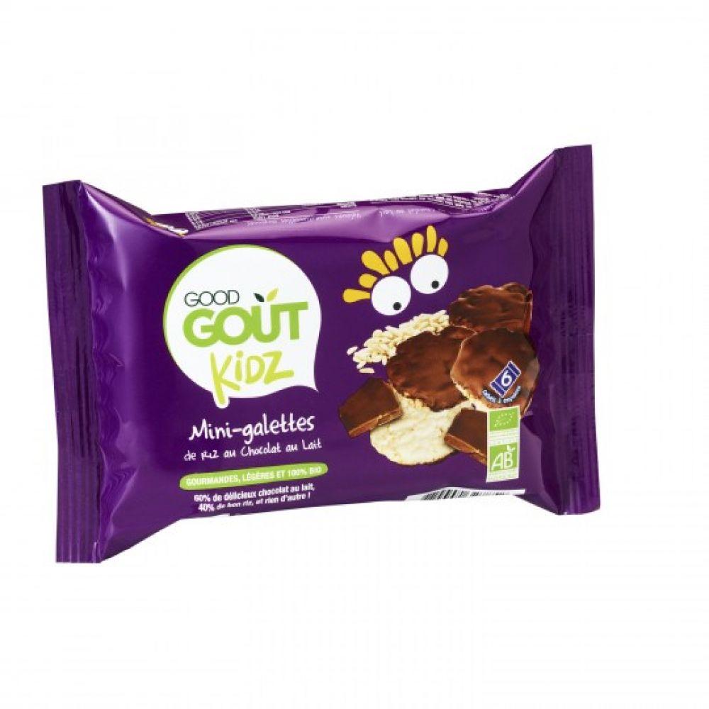 Maison Et Chocolat Uriage Les Bains good goût kidz - mini galettes de riz chocolat au lait - paquet de 6