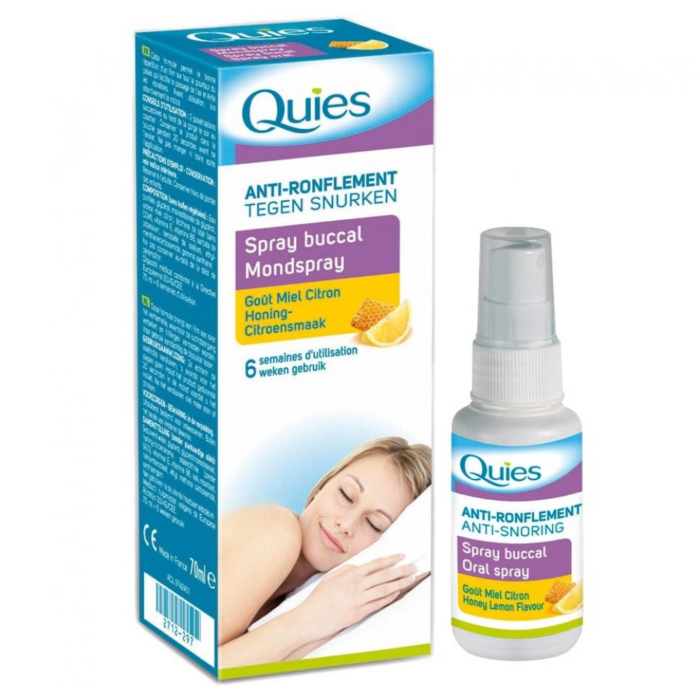Quies - Spray buccal Anti-ronflement - 70ml