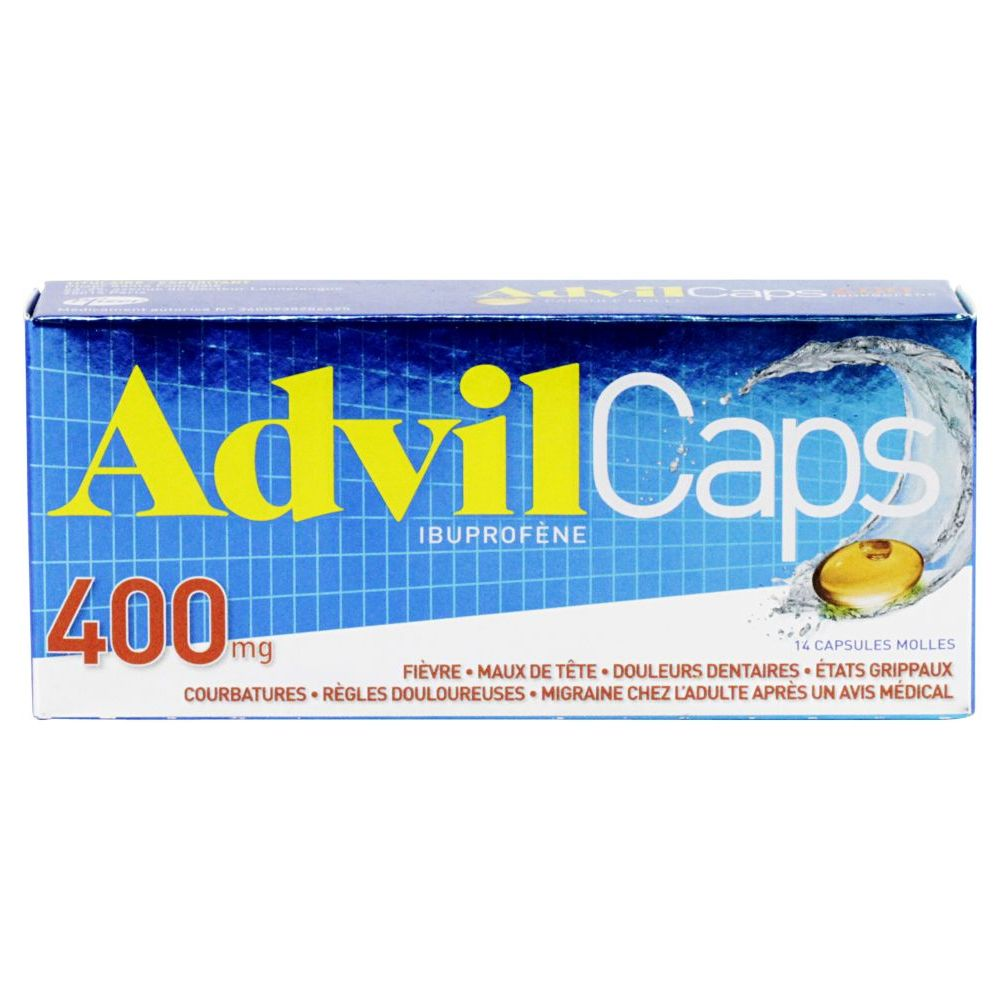 AdvilCaps 400 mg - 14 capsules molles