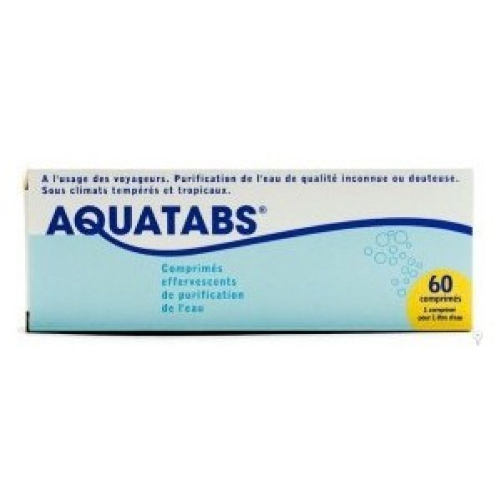 Aquatabs - purification et désinfection de l'eau.