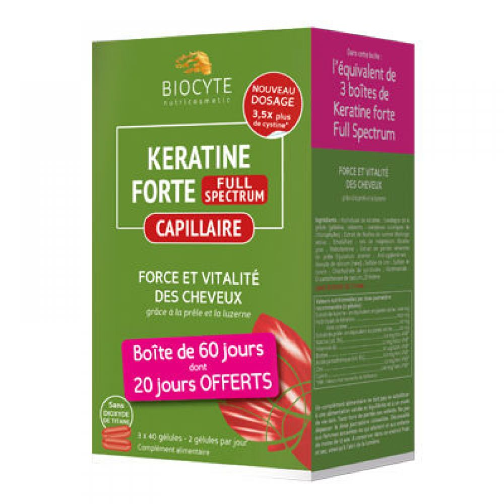 Biocyte - Kératine Forte - Full Spectrum