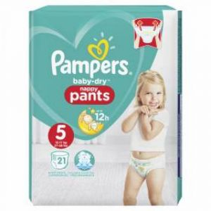 Pampers - Baby dry nappy pants - Taille 5 - 21 couches