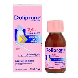 Doliprane suspension sans sucre 100ml
