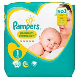 Pampers - Premium protection - taille 1 - 22 couches