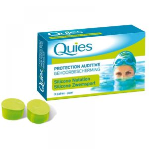 Quies - Protection auditive silicone natation adulte - 3 paires