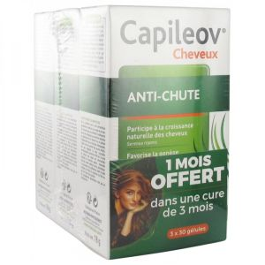 Capileov anti-chute double action - 3x30 gélules