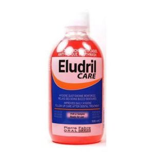 Eludril Care - Bain de bouche anti-plaque - 500 ml