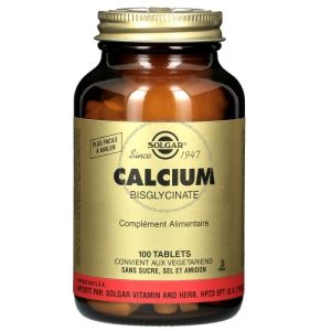 Solgar - Calcium Bisglycinate - 100 tablets