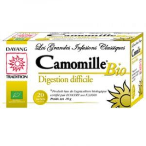 Dayang - Camomille bio digestion difficile - 20 sachets