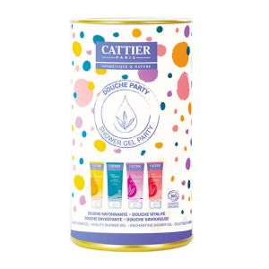 Cattier - Coffret Douche Party - 4 x 40 ml