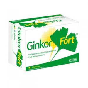Ginkor Fort veinotonique- 60 gélules