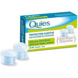 Quies - Protection auditive Silicone Anti-Bruit - 3 paires