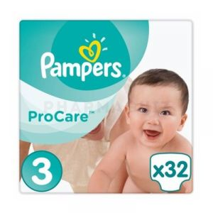 Pampers - Procare Taille 3 - 32 couches