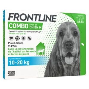 Frontline Combo - Spot-on Chien M 10-20kg - 4 pipettes