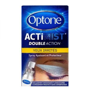 Optone - ActiMist Double action Yeux irrités - 10ml
