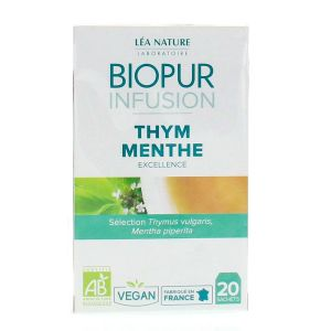 Biopur Infusion - Thym menthe - 20 sachets
