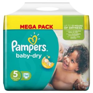 Pampers - Baby Dry taille 5 - 74 couches