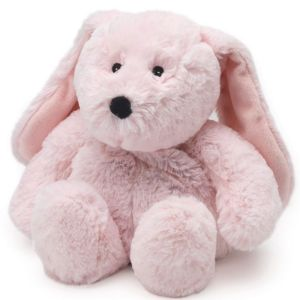 Warmies - Bouillotte peluche lapin junior rose