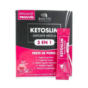 Biocyte - Ketoslim - Dispositif Médical 5 en 1 - 45 sticks