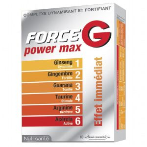 Force G - Energie immédiate - 10 ampoules