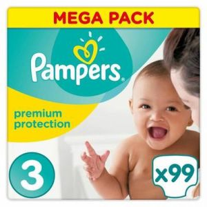 Pampers - Premium protection taille 3 - 99 couches