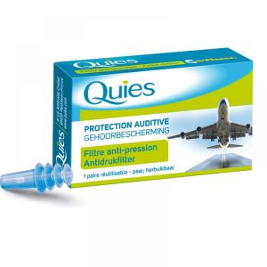 Quies - Protection auditive avion adulte - 1 paire