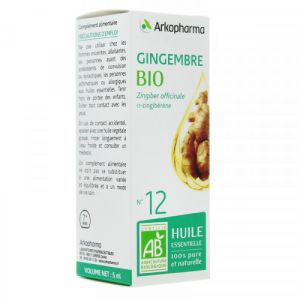 Arkopharma - Huile essentielle Gingembre N°12 - 5ml