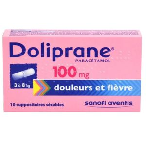 Doliprane suppositoire 100mg - Boite de 10