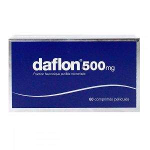Daflon 500mg veinotonique - 60 comprimés