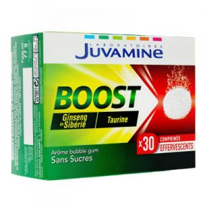 Juvamine - Boost - Ginseng, Taurine - 30 comprimés effervescents