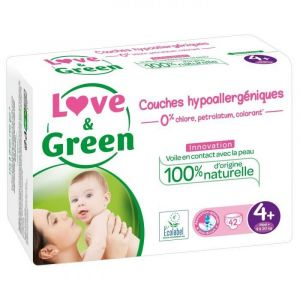 Love & Green - Couches Taille 4+ - 42 couches