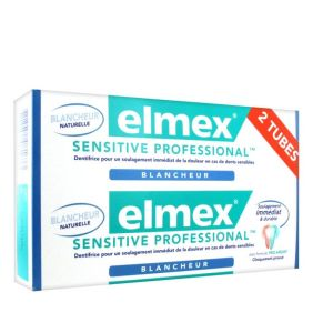 Elmex - Dentifrice sensitive professional blancheur - 2 x 75ml