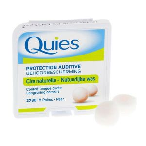 Quies - Protection auditive cire naturelle - 8 paires