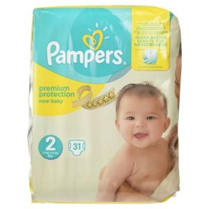 Pampers - Premium protection new baby - 31 couches