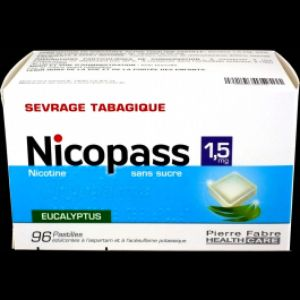 Nicopass 1,5 mg eucalyptus sevrage tabagique -  96 pastilles