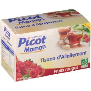 Picot - Tisane d'allaitement fruits rouges - 20 sachets