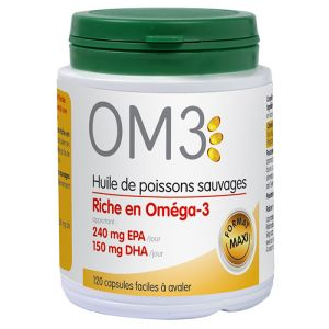 OM3 Huile de poissons sauvages - 120 capsules