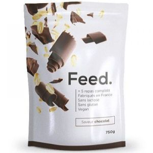 Feed - Poudre 5 repas complet saveur chocolat - 750 g
