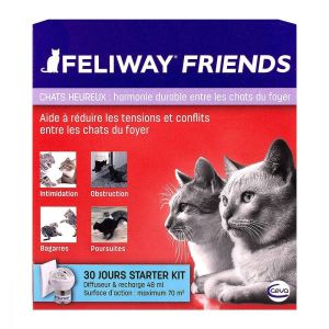 Feliway Friends - Chat heureux - Diffuseur + recharge