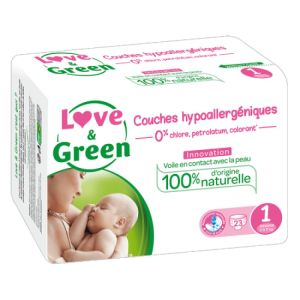 Love & Green - Couches Taille 1 - 23 couches
