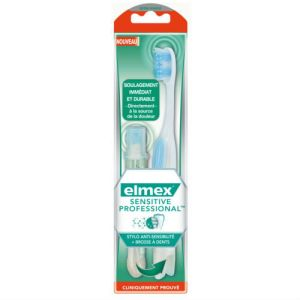 Elmex Sensitive Professional - Brosse à dents + stylo anti-sensibilité