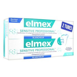Elmex - Sensitive professional Blancheur - 2x75ml