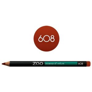 Zao - Crayon multi-fonctions brun orange - N°608