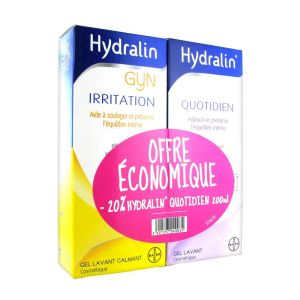 Hydralin - Gyn irritation 200 ml + Quotidien 200 ml