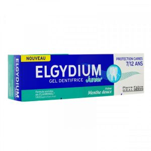 Elgydium - Gel dentifrice junior 7/12 ans - 50 ml