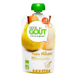 Good Goût - Gourde de fruit poire Williams dès 4 mois - 120 g