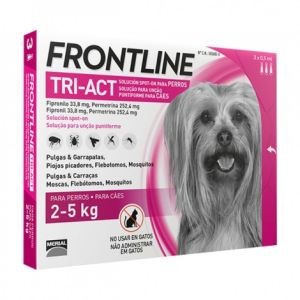 Frontline Tri-Act - Spot on chiens 2-5 kg - 3 pipettes