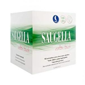 Saugella - Serviettes extra-fines cotton touch nuit - 12 serviettes